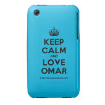 [Crown] keep calm and love omar  iPhone 3G/3GS Cases iPhone 3 Cases