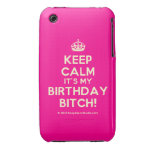 [Crown] keep calm it's my birthday bitch!  iPhone 3G/3GS Cases iPhone 3 Cases
