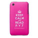 [Crown] keep calm and read p.y.t  iPhone 3G/3GS Cases iPhone 3 Cases