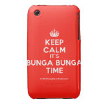 [Crown] keep calm it's bunga bunga time  iPhone 3G/3GS Cases iPhone 3 Cases