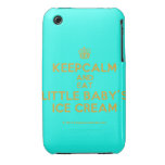 [Cupcake] keepcalm and eat little baby's ice cream  iPhone 3G/3GS Cases iPhone 3 Cases