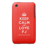 [Crown] keep calm and love pj  iPhone 3G/3GS Cases iPhone 3 Cases