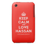 [Crown] keep calm and love hassan  iPhone 3G/3GS Cases iPhone 3 Cases