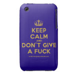 [Dancing crown] keep calm and don't give a fuck  iPhone 3G/3GS Cases iPhone 3 Cases