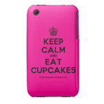 [Cupcake] keep calm and eat cupcakes  iPhone 3G/3GS Cases iPhone 3 Cases