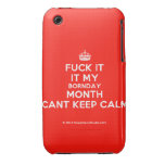 [Crown] fuck it it my bornday month cant keep calm  iPhone 3G/3GS Cases iPhone 3 Cases