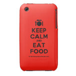 [Cutlery and plate] keep calm and eat food  iPhone 3G/3GS Cases iPhone 3 Cases