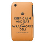 [Crown] keep calm and eat at wrapworks deli  iPhone 3G/3GS Cases iPhone 3 Cases