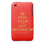 [Crown] keep calm and eat destinay♥  iPhone 3G/3GS Cases iPhone 3 Cases
