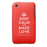[Crown] keep calm and make lovr  iPhone 3G/3GS Cases iPhone 3 Cases