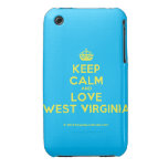 [Crown] keep calm and love west virginia  iPhone 3G/3GS Cases iPhone 3 Cases