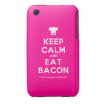 [Chef hat] keep calm and eat bacon  iPhone 3G/3GS Cases iPhone 3 Cases