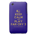 [Computer] keep calm and play far cry 3  iPhone 3G/3GS Cases iPhone 3 Cases