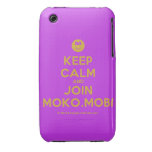 [Smile] keep calm and join moko.mobi  iPhone 3G/3GS Cases iPhone 3 Cases