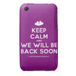 [Two hearts] keep calm and we will be back soon  iPhone 3G/3GS Cases iPhone 3 Cases