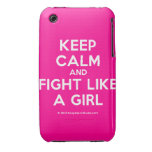 keep calm and fight like a girl  iPhone 3G/3GS Cases iPhone 3 Cases