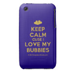 [Two hearts] keep calm cuse i love my bubbies  iPhone 3G/3GS Cases iPhone 3 Cases