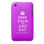 [Cutlery and plate] keep calm and just eat  iPhone 3G/3GS Cases iPhone 3 Cases