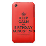 [Crown] keep calm my birthday august 3rd  iPhone 3G/3GS Cases iPhone 3 Cases
