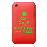 [Cutlery and plate] keep calm and don't eat my face  iPhone 3G/3GS Cases iPhone 3 Cases