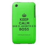 [Crown] keep calm que o jacinto é o boss  iPhone 3G/3GS Cases iPhone 3 Cases