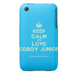 [Crown] keep calm and love coboy junior  iPhone 3G/3GS Cases iPhone 3 Cases
