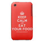 [Crown] keep calm and eat your food  iPhone 3G/3GS Cases iPhone 3 Cases