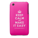 [Crown] keep calm and make it easy  iPhone 3G/3GS Cases iPhone 3 Cases