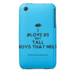 [Two hearts] i #love b5 hot tall boys that melt  iPhone 3G/3GS Cases iPhone 3 Cases