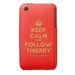 [Crown] keep calm and follow thierry  iPhone 3G/3GS Cases iPhone 3 Cases