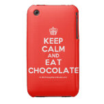 [Cupcake] keep calm and eat chocolate  iPhone 3G/3GS Cases iPhone 3 Cases