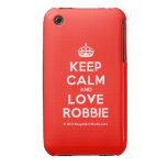 [Crown] keep calm and love robbie  iPhone 3G/3GS Cases iPhone 3 Cases