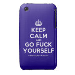 [Crown] keep calm and go fuck yourself  iPhone 3G/3GS Cases iPhone 3 Cases
