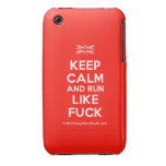 [UK Flag] keep calm and run like fuck  iPhone 3G/3GS Cases iPhone 3 Cases