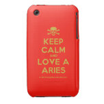 [Skull crossed bones] keep calm and love a aries  iPhone 3G/3GS Cases iPhone 3 Cases