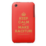 [Crown] keep calm and make racituri  iPhone 3G/3GS Cases iPhone 3 Cases
