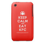 [Cutlery and plate] keep calm and eat kfc  iPhone 3G/3GS Cases iPhone 3 Cases