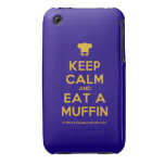 [Chef hat] keep calm and eat a muffin  iPhone 3G/3GS Cases iPhone 3 Cases