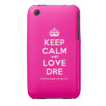 [Crown] keep calm and love dre  iPhone 3G/3GS Cases iPhone 3 Cases