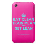 [Crown] eat clean train mean and get lean  iPhone 3G/3GS Cases iPhone 3 Cases