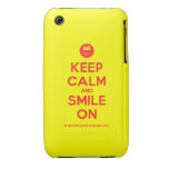 [Smile] keep calm and smile on  iPhone 3G/3GS Cases iPhone 3 Cases