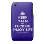 [Crown] keep calm and fucking enjoy life  iPhone 3G/3GS Cases iPhone 3 Cases