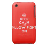 [Crown] keep calm and pillow fight on  iPhone 3G/3GS Cases iPhone 3 Cases