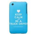 [Love heart] keep calm and be a truck driver  iPhone 3G/3GS Cases iPhone 3 Cases