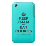 [Crown] keep calm and eat cookies  iPhone 3G/3GS Cases iPhone 3 Cases