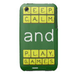 KEEP CALM and PLAY GAMES  iPhone 3G/3GS Cases iPhone 3 Covers