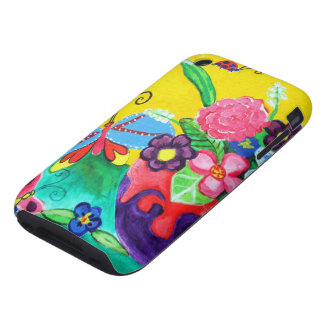 iPhone 3G/3GS de las mariposas y de las mariquitas Tough iPhone 3 Carcasa