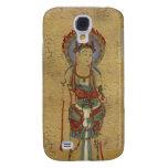 iPhone 3G/3GS - Fire Mandala Buddha Crackle Backg Samsung Galaxy S4 Cover