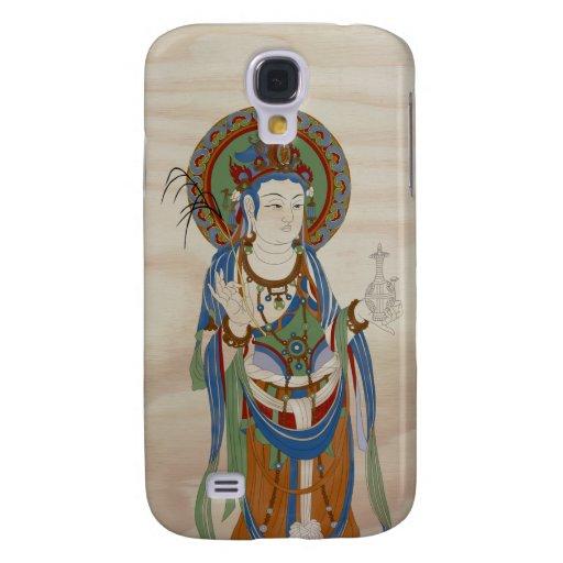 iPhone 3G/3GS - Guan Yin Buddha Doug Fir Backgr Galaxy S4 Case