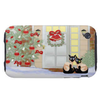 iPhone 3G/3GS Siamese Cat Christmas Case iPhone 3 Tough Covers